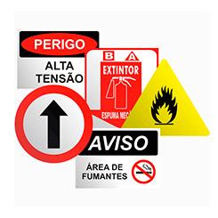 Placas de sinalização